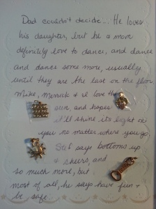 The Christmas card I received with the first 4 charms...